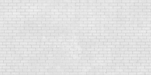 White brick wall seamless texture