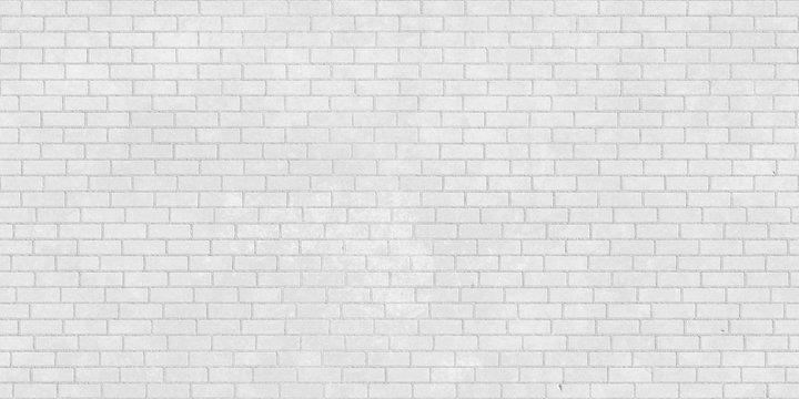 White brick wall seamless texture