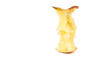 Bit of an apple. A white background