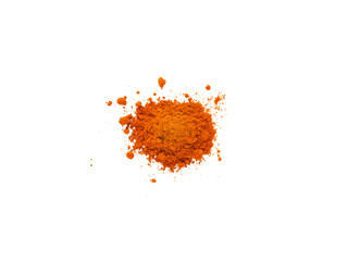 Ground red sweet pepper pile