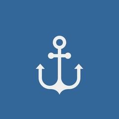 Anchor flat vector icon. Sea anchor flat vector icon