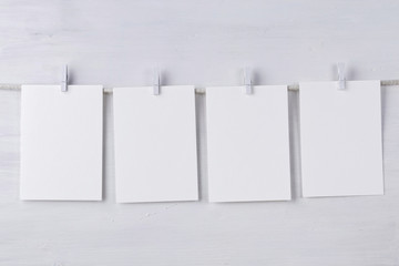 Four empty wotercolor paper cards