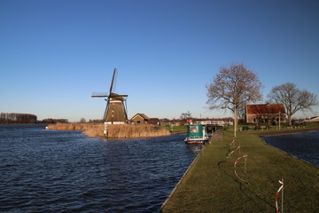 windmill and sluice in Zevenhuizen, the Netherlands