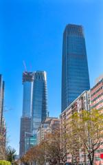 Three Big Skyscrapers World Trade Center Z15  Towers Beijing China