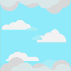 Sky flat illustration