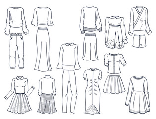 Contours of women's clothes