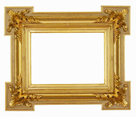 Gold frame isolated on white #47