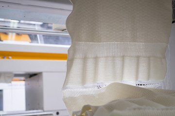 Produced knitted fabric view