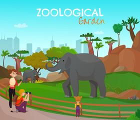 Zoological Garden Cartoon Poster