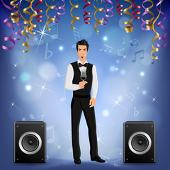 Party Celebration Singer Realistic