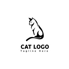 silhouette brush art stand cat logo