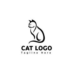 silhouette brush art stand cat logo