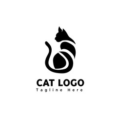 body part sitting cat logo