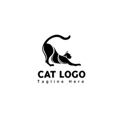 body part funny play cat logo