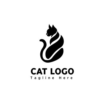 body part sitting cat logo