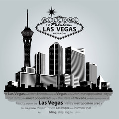 Vector cityscape of Las Vegas