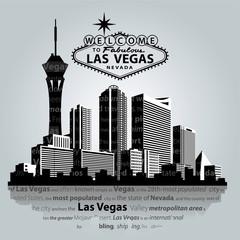 Vector cityscape of Las Vegas