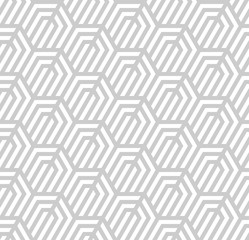 Vector seamless texture. Modern geometric background. Repeated pattern with hexagonal tiles.