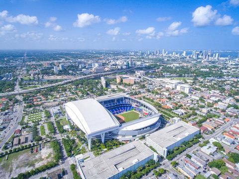 Above Baseball Stadium City Miami