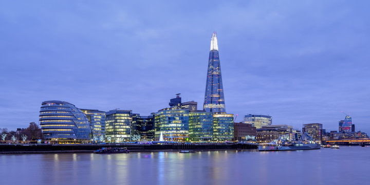 The Shard at twilight, London, England, United Kingdom