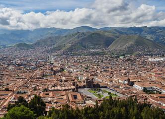 Old Town, elevated view, Cusco, Peru