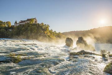 Rhine Falls (Rheinfall) and Laufen Castle, Schaffhausen, Switzerland