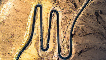 Winding Road Desert Israel