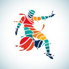 football splash soccer kick