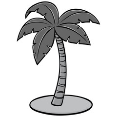 Palm Icon Illustration - A vector cartoon illustration of a Palm Icon concept.