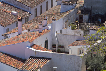 Morvao Portuguese province village on a sunny day cozy houses