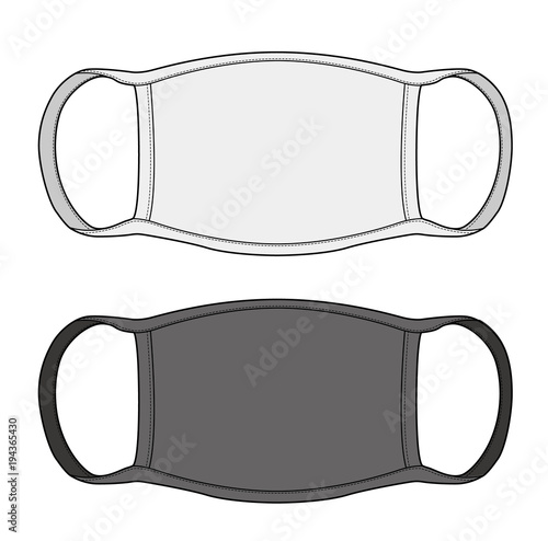 Dust mask vector illustration flat sketches template \