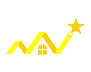 yellow star chart image vector icon logo