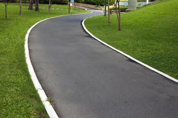 pathway in the grass garden ,grass,outdoor,green grass, landscape, moisture, fit exercise,nature, morning walk