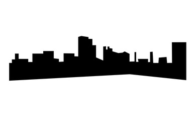dayton skyline silhouette on white background