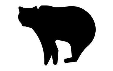 bear silhouette png on white background
