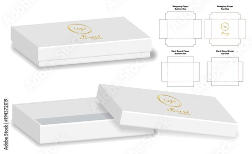 Box Packaging Cut Template Design Mock Up