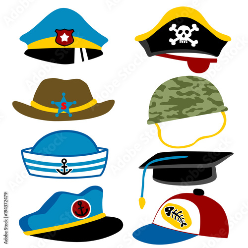 """set of hats cartoon"""" stock image and royalty-free vector files on"""