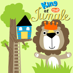 Cartoon of Lion king of the jungle