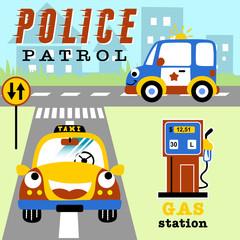 Funny transportation cartoon