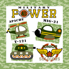 Military equipment cartoon