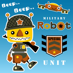 Military robot cartoon