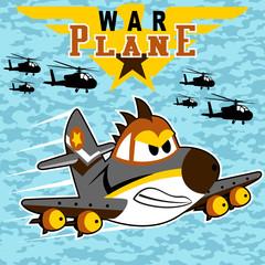 War plane on camouflage background vector