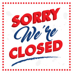 closed sign perfect for your business design