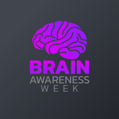 Brain Awareness Week icon design, infographic health, medical infographic. Vector illustration