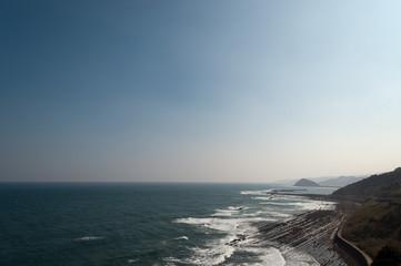 太平洋の水平線