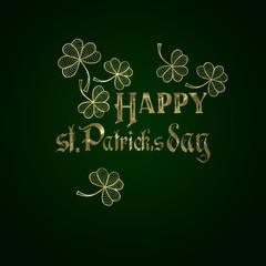 Happy St. patrick's day on dark green