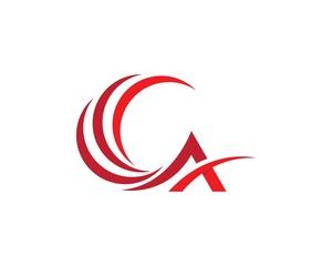 A Letter Logo Business