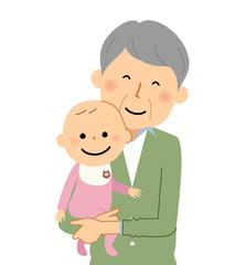 おじいちゃんと赤ちゃん