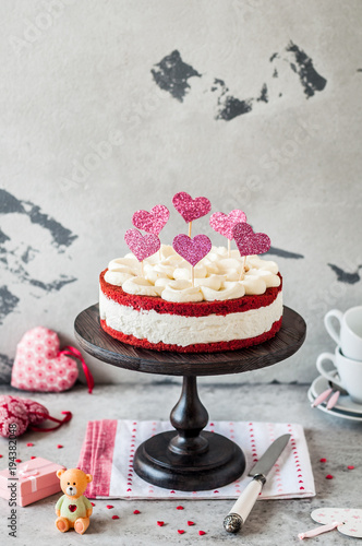 Red Velvet Cheesecake Stock Photo And Royalty Free Images On