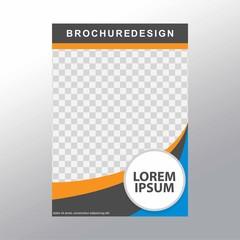 Vector flyer template design. For business brochure